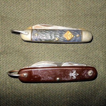 Vintage Cub Scout and Boy Scout Pocket Knives - Sporting Goods