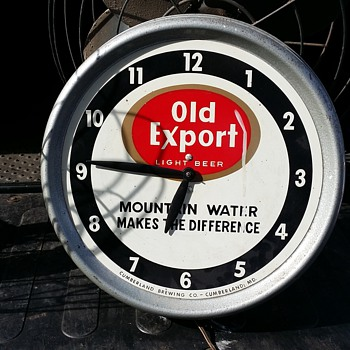 Old Export Clock - Advertising