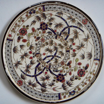 Zsolnay Pecs Trivet, Gold traced Oriental Design,.....date? - Pottery