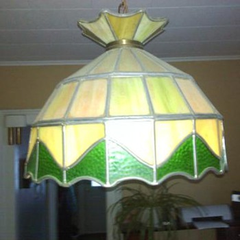 Lead stained glass hanging lamp - Lamps