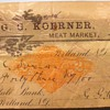 Returned check from 1901 and a loan receipt from 1915