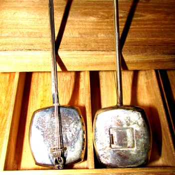 Sterling Silver Miniature Shamisen - Silver