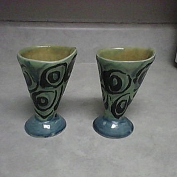 REDWARE POTTERY CUPS - Pottery