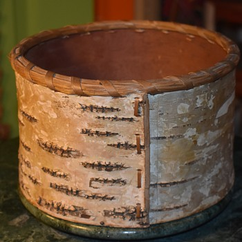Round Birchbark Box - Native American