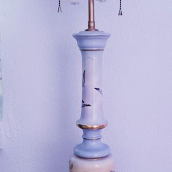 C Kong artist handpainted lamp - Lamps