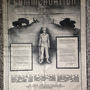 WWII COMMENDATION POSTER