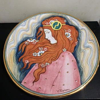 DESIGNER WALL PLATE - Art Nouveau