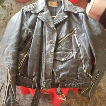 """Vintage """"PENNY'S"""" Genuine Steerhide Motorcycle Jacket - Mens Clothing"""