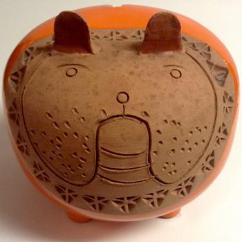 Rare Bitossi Raymor Ceramic Bulldog Italy by Aldo Londi  - Pottery