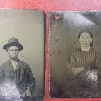 Old tintype photos need help identify them