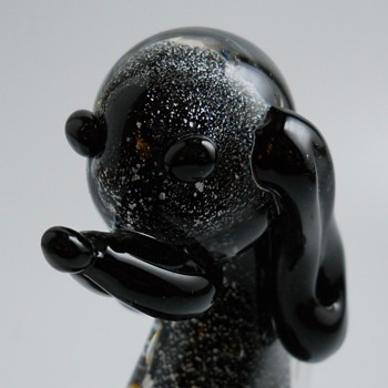 Murano Art Glass Dog, Circa 1960-70 - Art Glass