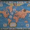 Very Rare H.J. Heinz Famous Flights Map Cir 1936-1937