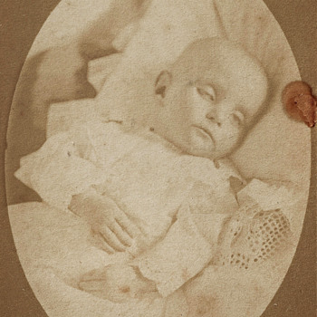 Infant Post-Mortem by W.F. Carnall of Rochester, NY - Photographs