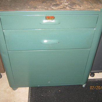 1940's Pressteel Cabinet (Plomb Tool Company) - Tools and Hardware