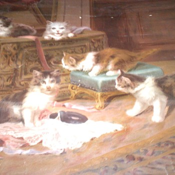 I found this painting By J LeRoy Sold by the N.K. Fairbank company in Chicago - Fine Art