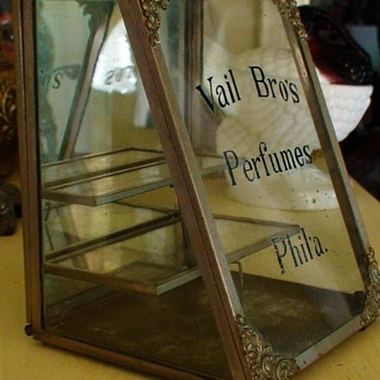 "Antique Advertising Merchantile Display Case ""Vail Brother's Perfumes"" Philadelphia, PA - Advertising"