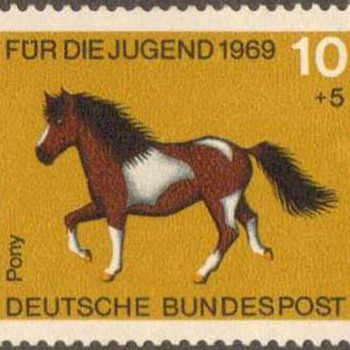 "1969 - W. Germany - ""Horses"" Postage Stamp Series - Stamps"