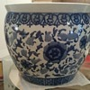 Kangxi period Blue and White underglazed Fish bowl planter