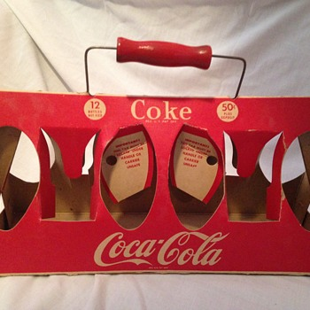 1940-50's Twelve Bottle Cardboard Carrier - Coca-Cola