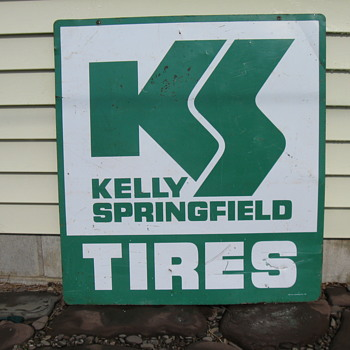 KELLY SPRINGFIELD TIRES SIGN 1969