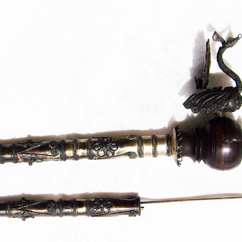 Dragon pipe and dagger (or letter opener) - Asian