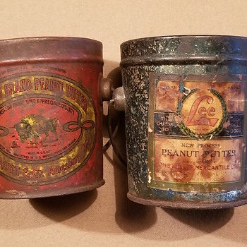 Old peanut butter tins - Advertising