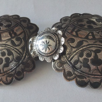 Imperial Russian about 1880's Silver and Niello Buckle - Victorian Era