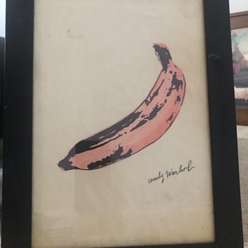 Andy Warhol banana print - Posters and Prints