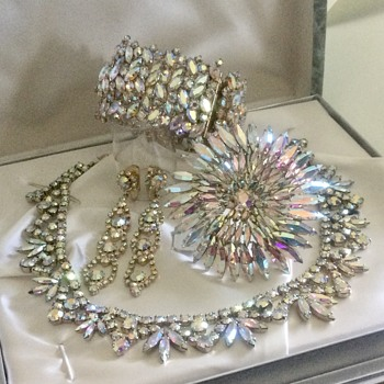 Sherman Aurora Borealis Complete Set - Costume Jewelry