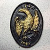 Cast Iron INA 1792 medalion or plate