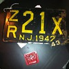 1942-43 New Jersey Licence plate and a PA Tag