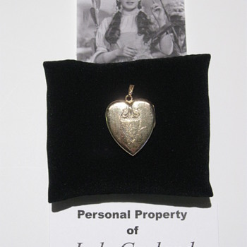 Judy Garland  .  .  .  Vintage Heart-Shaped Locket