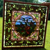 4' Square Tiffany Stained-glass Window