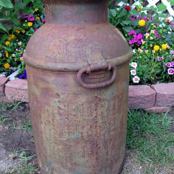 Old Milk Can - Bottles