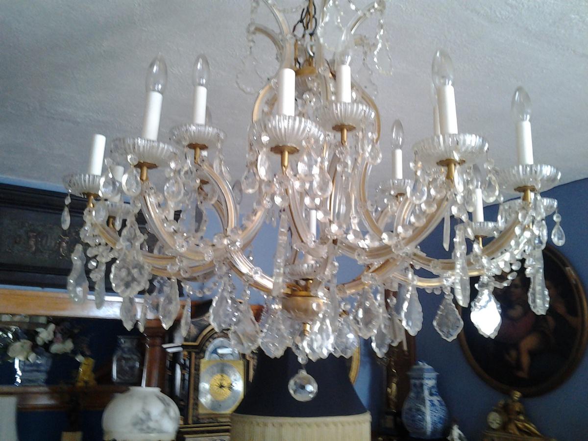 1950s 12 arm maria theresa chandelier collectors weekly 12 arm maria theresa chandelier collectors weekly arubaitofo Gallery