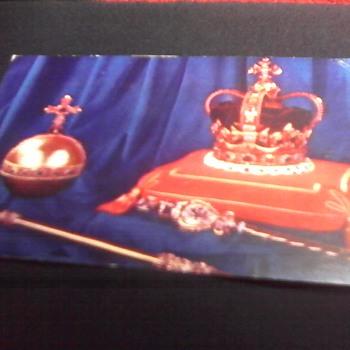 """ Coronation Regalia"" Post Card"
