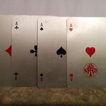 Aluminium metal playing cards