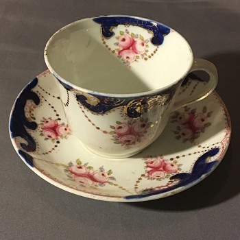 Antique cup & saucer  - China and Dinnerware