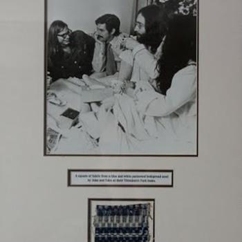 John Lennon's bedspread... - Music Memorabilia