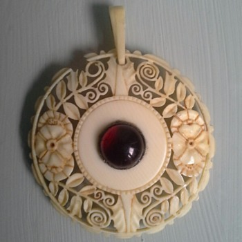carved ivory medallion - Fine Jewelry