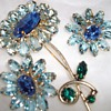 Weiss brooch and earrings.