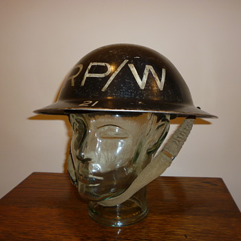 British WWII Repair Party/Water, steel helmet