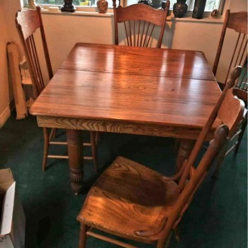 My new to me dining room table and chairs - Furniture