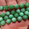 Two OLD jadeite necklaces