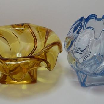 Bagley Glass Equinox Vases (Pressed Glass) - Glassware