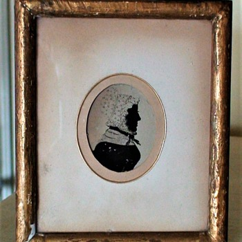 Antique Silhouette From Ephrata, Pennsylvania Quaker Woman - Fine Art