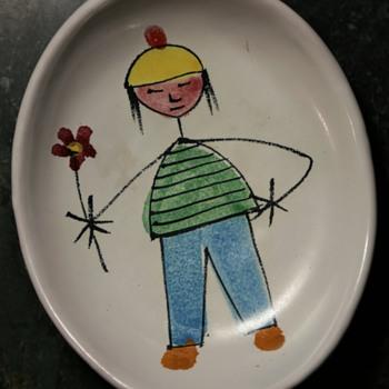 Cool Little Nut Dish - Italian MCM - Pottery