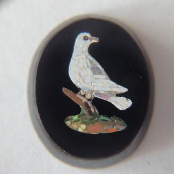 Micro Mosaic Dove plaque - Fine Jewelry