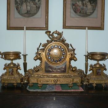 My Tiffany & Co Mantel Clock with Garniture - Clocks