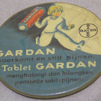 TABLET GARDAN Celluloid Pocket Mirror - Advertising